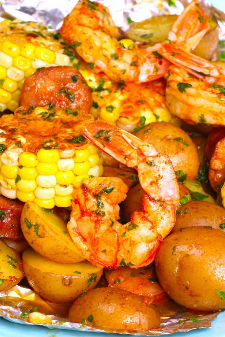 20 Minute Shrimp Boil Foil Packets Recipe With Video Tipbuzz