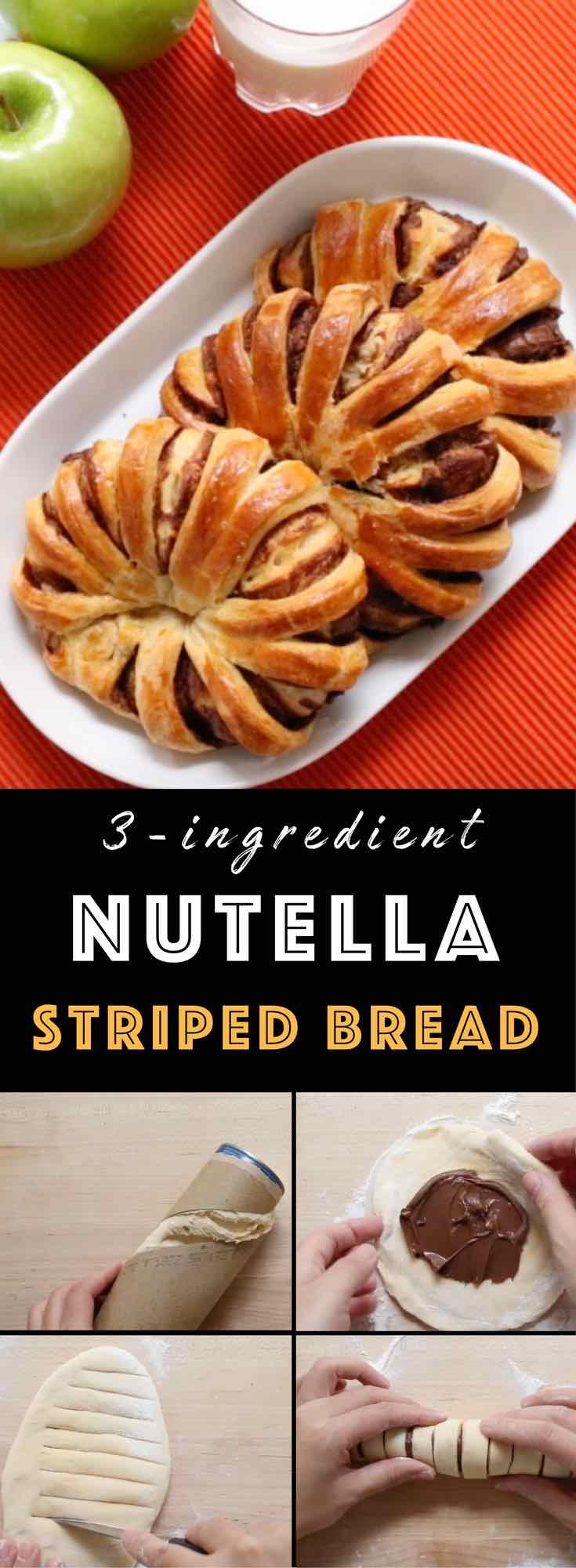 Braided Nutella Bread - TipBuzz