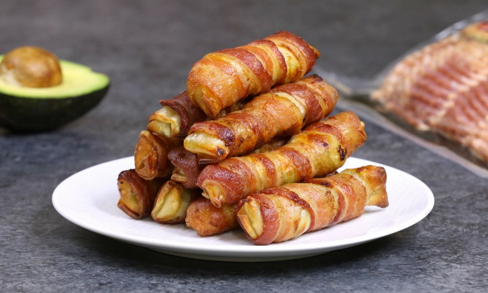 Bacon-wrapped Spring Rolls for Breakfast