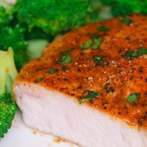 Easy Juicy Oven Baked Boneless Pork Chops are rubbed with a simple 4-ingredient seasoning and then baked until perfectly golden brown. Only one pan and 20 minutes for the moist and tender pork chops that's full of flavor. Plus recipe video!