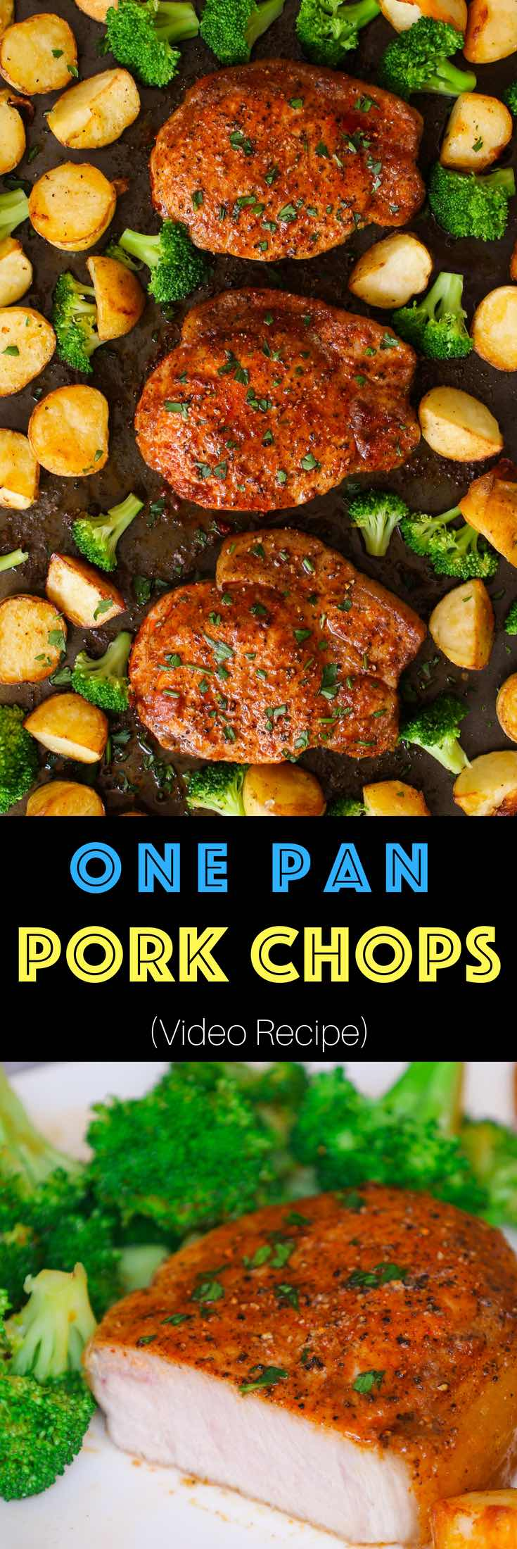 Easy Juicy Oven Baked Boneless Pork Chops are rubbed with a simple 4-ingredient seasoning and then baked until perfectly golden brown. Only one pan and 20 minutes for the moist and tender pork chops that's full of flavor. #BakedPorkChops