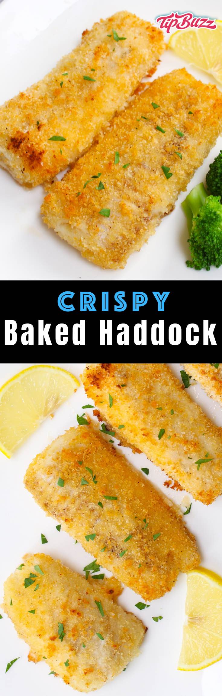 Crispy Baked Haddock with mild flavor and ready in just 15 minutes for a healthy dinner option that's easy to make!