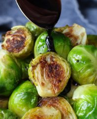 Balsamic Brussel Sprouts are an easy but delicious and healthy side dish. Roasting Brussel sprouts in the oven at a high temperature and then drizzled with balsamic glaze ensures the tender yet crispy perfection.