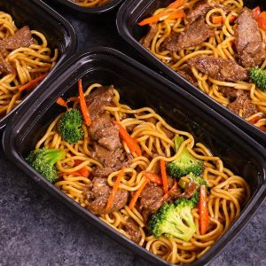 Beef Lo Mein Meal Prep