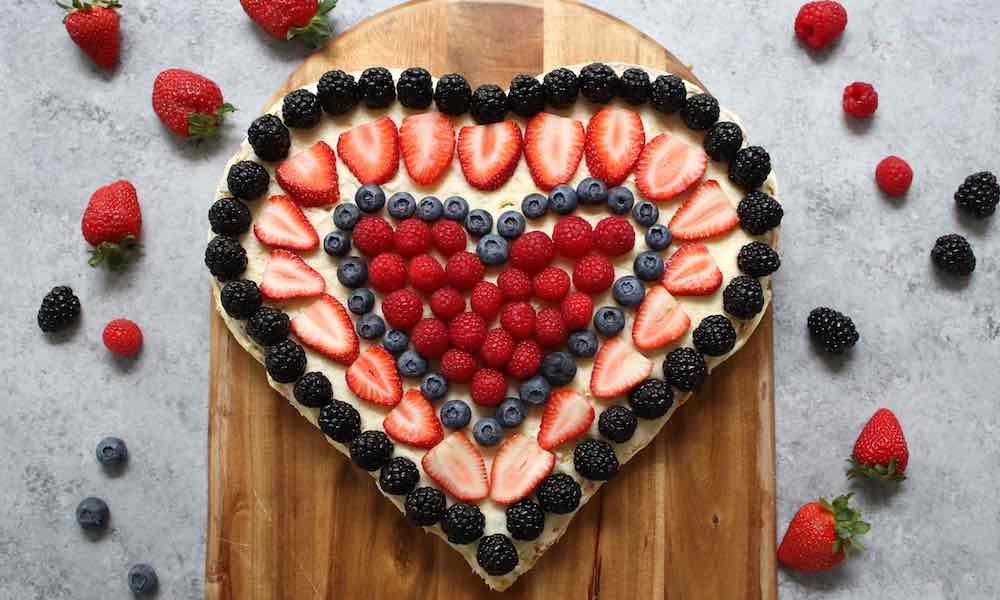 Berry Heart Cake