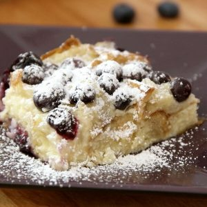 Blueberry Croissant Bread Pudding recipe is easy and delicious