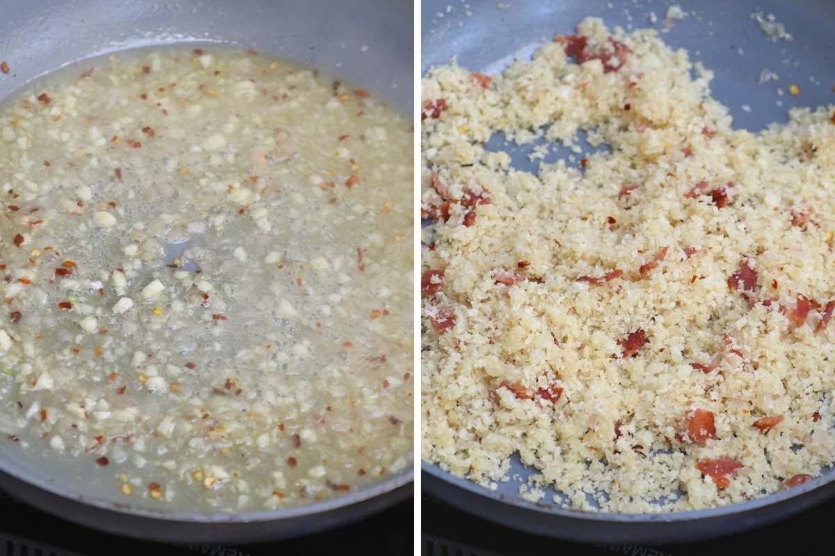 Making the breadcrumb mixture