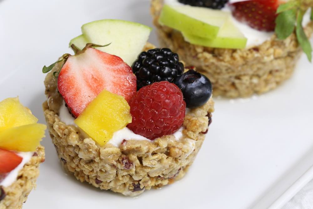 Breakfast Granola Cups With Yogurt And Fruits