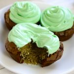 These Brownie Pot-of-gold Cupcakes are great for St Patrick's Day