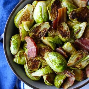 Here's the best Brussels Sprouts with Bacon that your whole family will love. We give you two popular ways to make this side dish – roast them in the oven or sauté them in a pan the traditional way