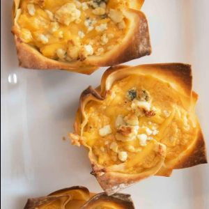 Buffalo Chicken Wonton Cups recipe is easy to make and delicious