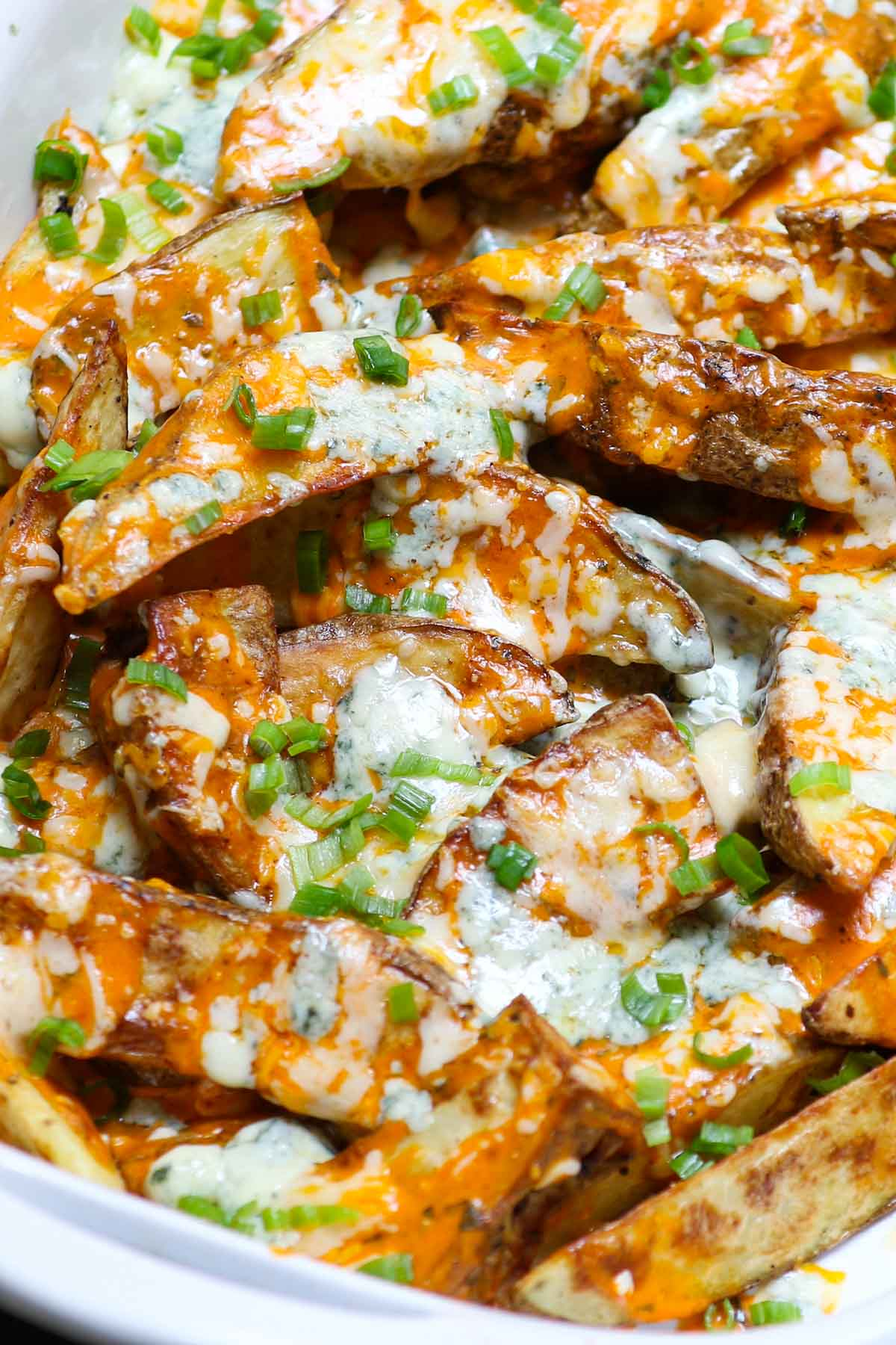 Serving of buffalo fries