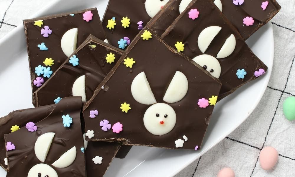 Easy Bunny Chocolate Bark