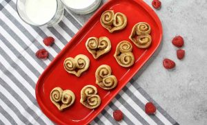 Cinnamon Roll Hearts are a fun 3-ingredient recipe