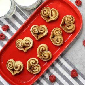 Cinnamon Roll Hearts are a fun 3-ingredient recipe