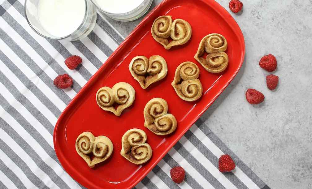 Cinnamon Roll Hearts