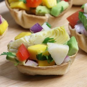 Heart of Palm Ceviche Cups are an elegant vegan appetizer to make for a party