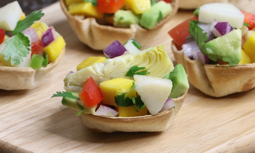 Hearts of Palm Ceviche Cups