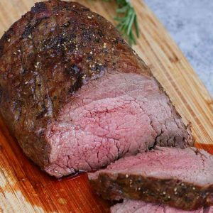 Chateaubriand cooked medium