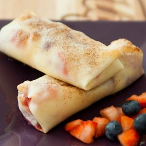 These Berry Cheesecake Egg Rolls are a delicious dessert that's easy to make