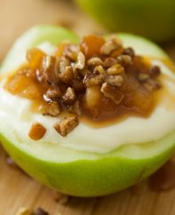 These Cheesecake Stuffed Apple Cups are a delicious dessert that's easy to make