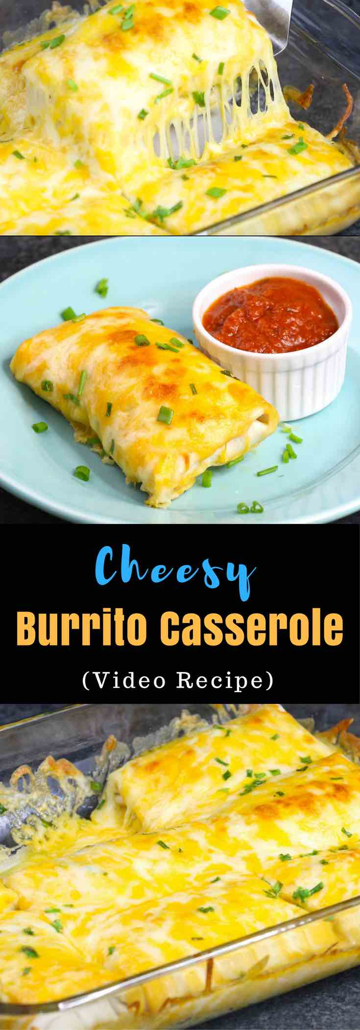 This Cheesy Burrito Casserole is loaded with meat and cheese for a dinner option the whole family will love. All you need is some simple ingredients: ground beef, onions, seasoning, tortillas, cheese. Make ahead recipe. Video recipe. tipbuzz.com