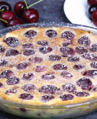 A classic rustic French recipe using summer's fresh cherries. It's so smooth and melts in your mouth.