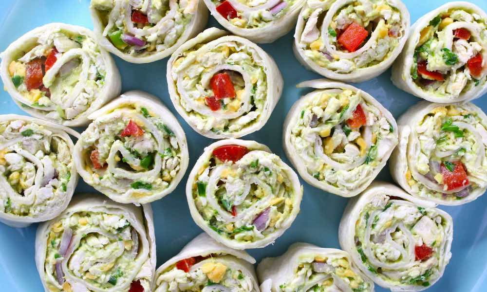 15 Minute Chicken Avocado Roll-Ups