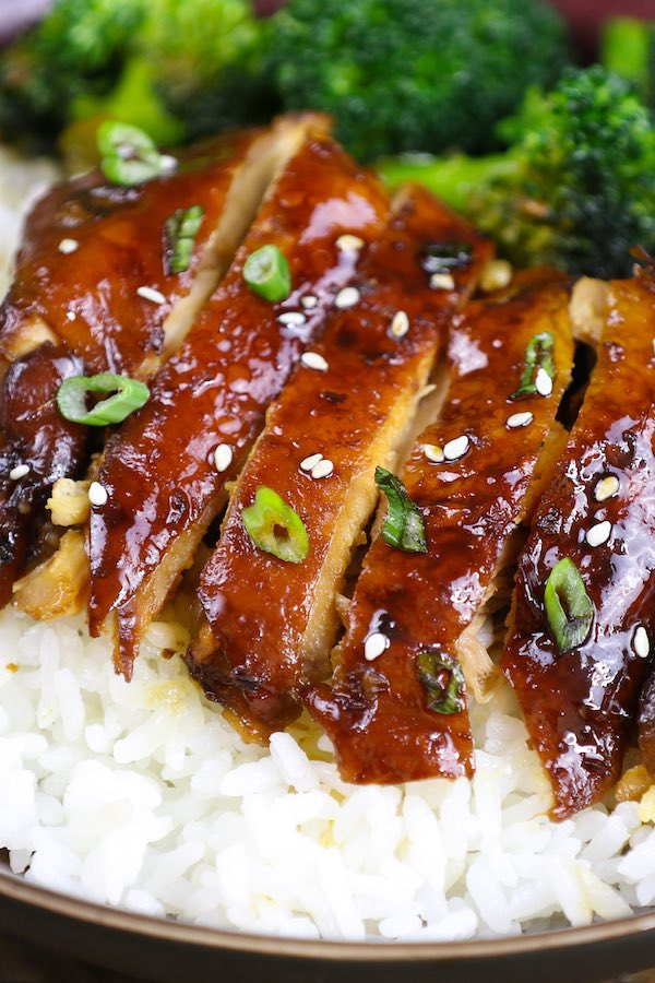 This Chicken Teriyaki is a quick weeknight dinner that's loaded with tender chicken and homemade sweet and savory authentic teriyaki sauce. It's so much better than takeout, and you will make it again and again…