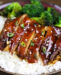 This Chicken Teriyaki is a quick weeknight dinner that's loaded with tender chicken and homemade sweet and savory authentic teriyaki sauce.