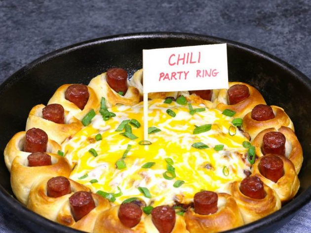 Chili Party Ring - this photo shows the finished dish after baking