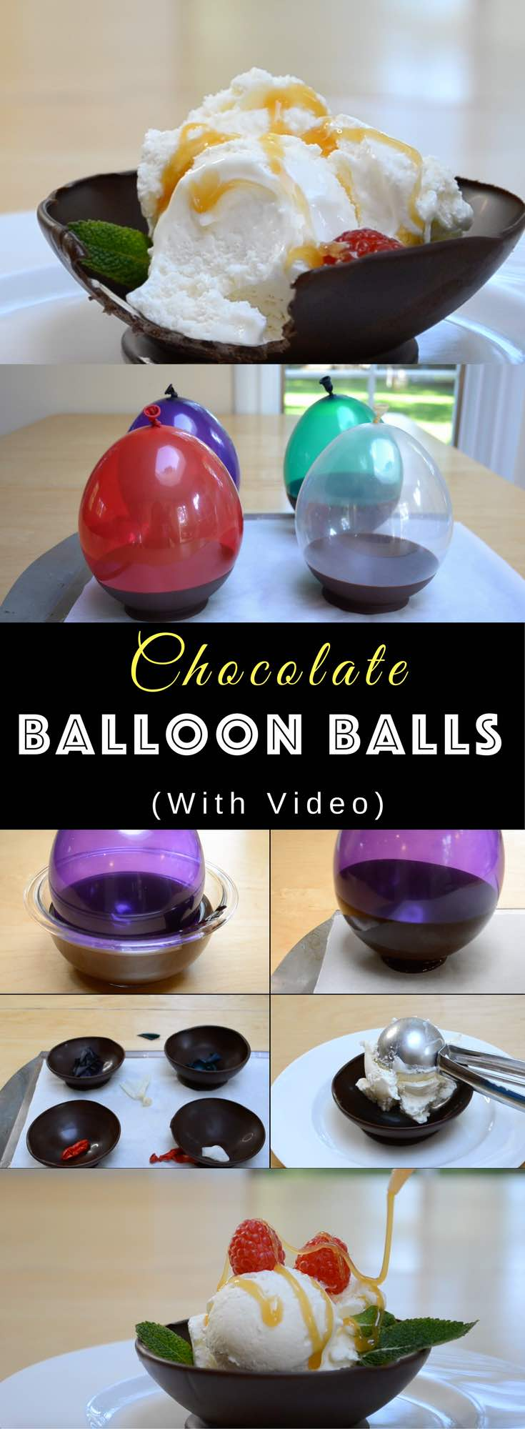DIY Chocolate Balloon Bowls Recipe | TipBuzz