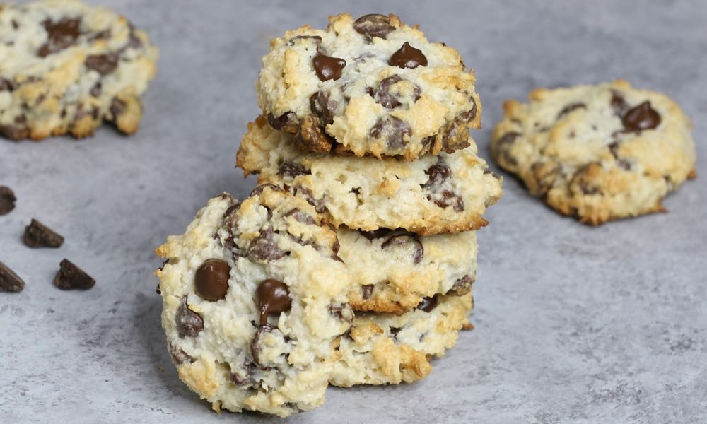 4 Ingredient Chocolate Chip Coconut Cookies