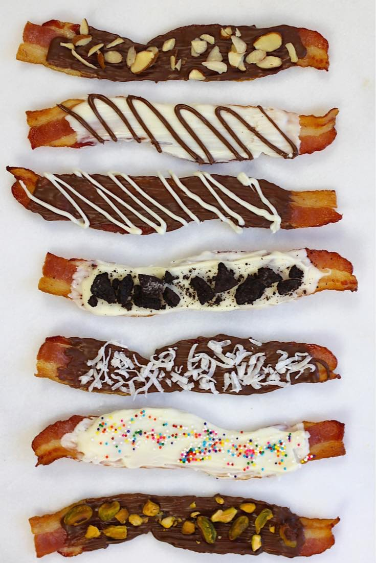 Image result for chocolate covered bacon