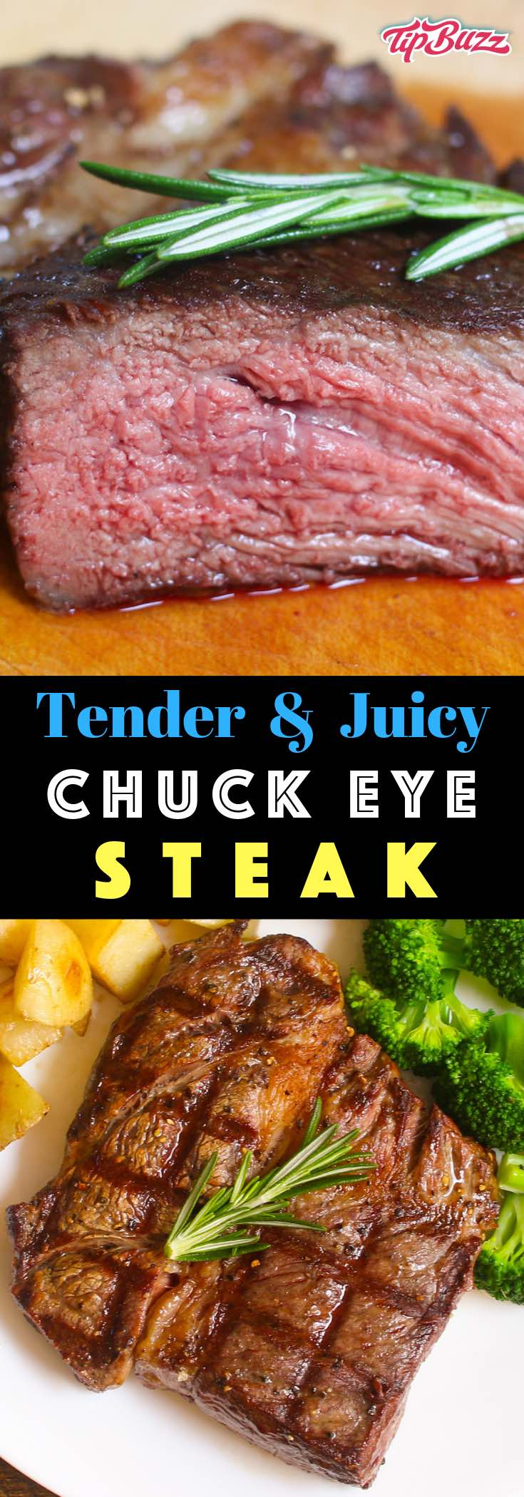 Chuck eye steak is a mouthwatering steak that's cut from the rib section right next to the rib eye but for the price of chuck. It's suitable for high-temperature cooking including grilling, pan frying and broiling
