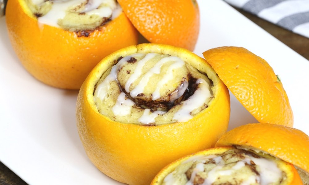 Cinnamon Rolls Baked In Oranges