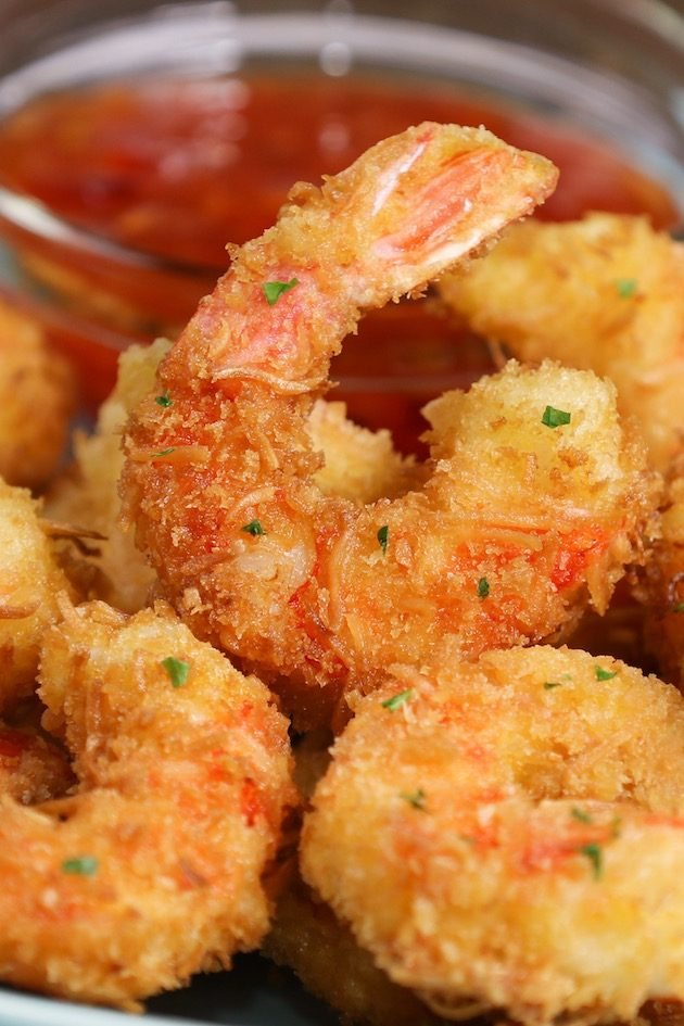 Coconut Shrimp deep fried to golden perfection