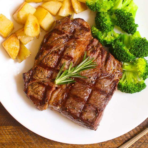Cooked Chuck Eye Steak