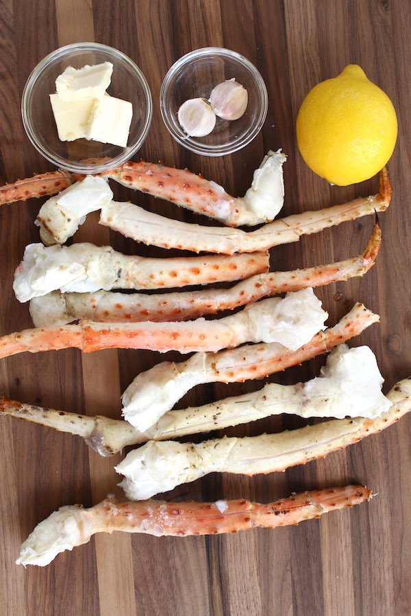 Learn how to cook frozen crab legs with a few simple ingredients: king crab legs, butter, garlic and lemon. Cooking crab legs is a simple process of thawing and reheating frozen crab legs