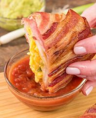 These Bacon Covered Crunchwraps are delicious for breakfast or brunch