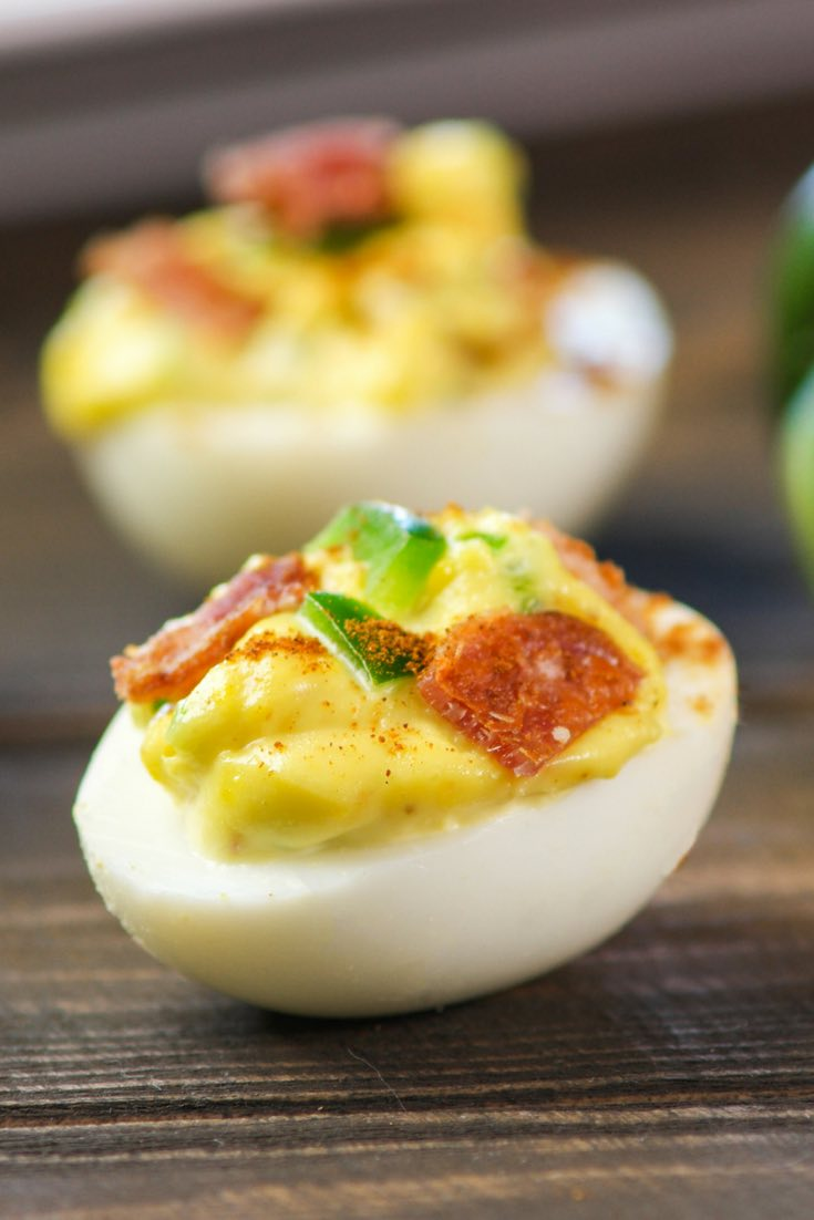 Deviled Eggs With Bacon are a popular appetizer that's perfect for brunches, parties and holidays