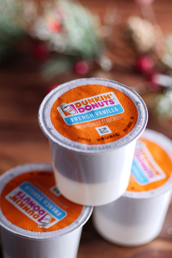 Dunkin' Donuts K-cups used to quickly make Snowman Mocha Lattes