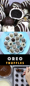 : 4 Ingredient Oreo Truffles - the easiest and most beautiful dessert you will ever make! Only 4 ingredients required: Oreos, cream cheese, white chocolate and dark semi-sweet chocolate. Sprinkles are optional. Oreo crumbs are mixed with creamy cheesecake, and then covered with melted chocolate. So Good! Quick and easy recipe, party desserts. No Bake. Vegetarian. Video recipe. | Tipbuzz.com