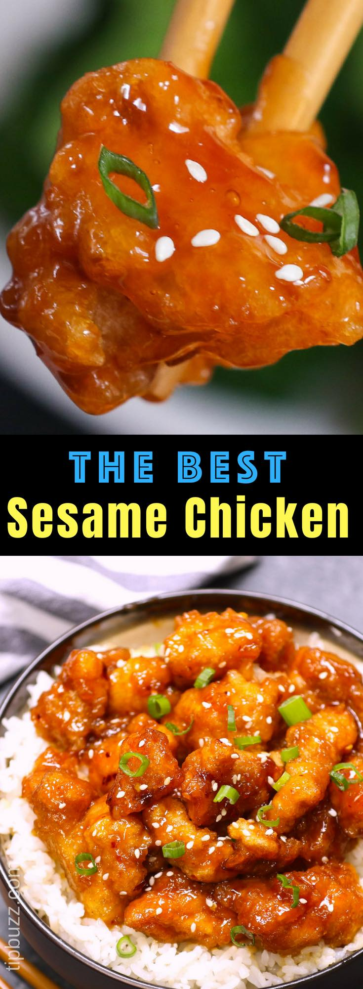 Sticky and crispy Easy Sesame Chicken made fast and simple, with the most delicious sweet and savory sesame chicken sauce.  This easy Chinese recipe takes less than 30 minutes to make and is so much better than takeout! #SesameChicken