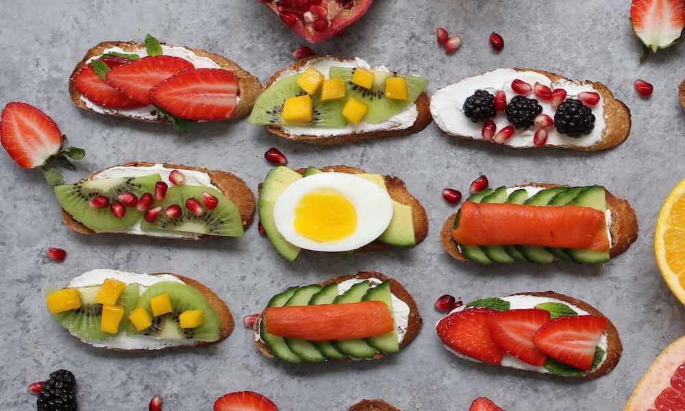 Energy Breakfast Toasts 6 Ways