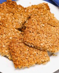 Traditional British Flapjacks are delicious bars of oats and golden syrup, baked until they're lightly brown. Flapjacks are similar to granola bars and are made with simple, wholesome ingredients you probably already have on hand.