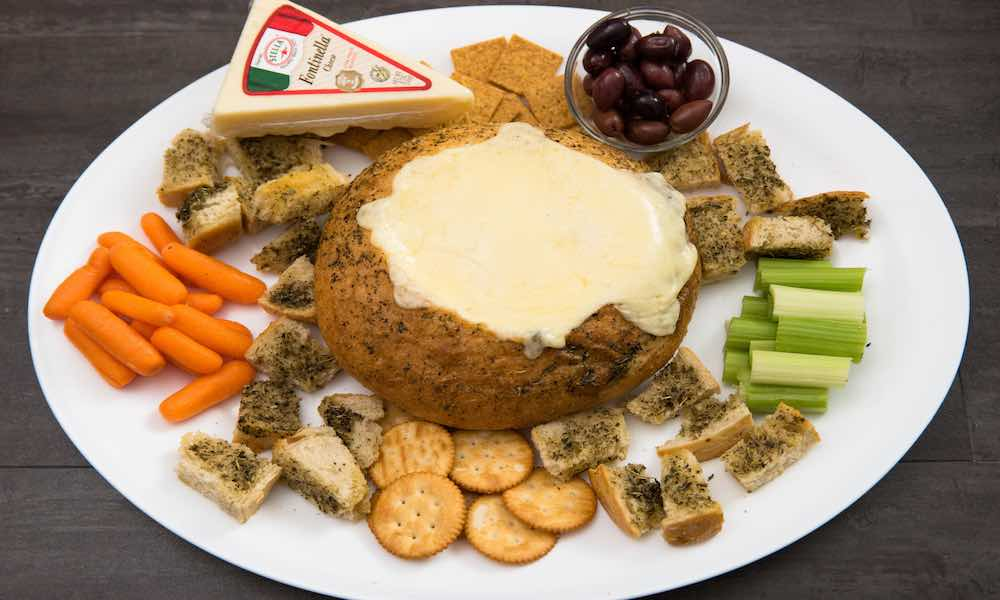 This Fondue Cheese Board is an easy way to host a holiday party