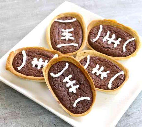 Brownie Taco Boats on a serving platter
