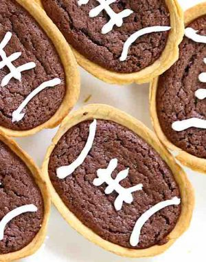 These Football Brownie Taco Boats are easy to make and delicious