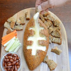 This Football Cheese Dip Bread recipe is an easy addition to any football party